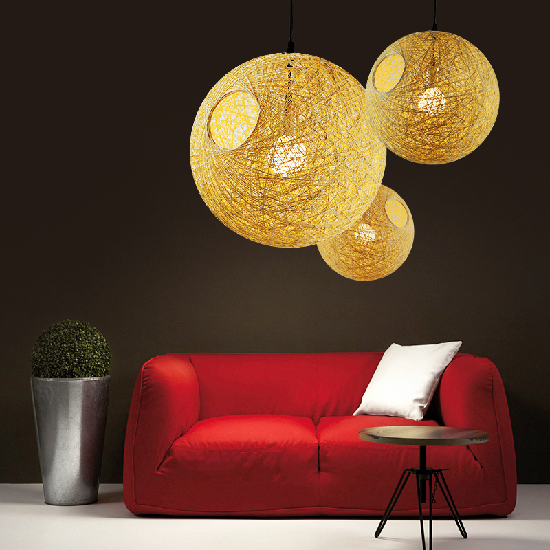 pendant light Modern creative simple bedroom lamp bar cafe personalized spherical pendant lights modern simple creative pendant light bar hotel pendant decorative light aluminum crystal pendant lights bedroom lamp lighting