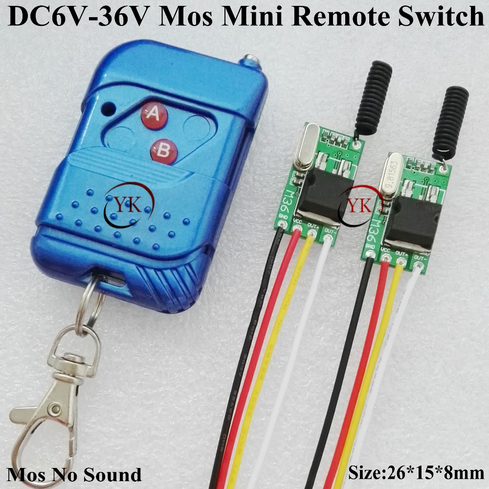 RF Small Remote Control Switch DC 6V-36V 7.4V 9V 12V 13V 14V 16V 18V 24V 28V 36V Micro Wireless Switch Car Light Lamp LED Remote 24v 1ch rf wireless remote switch wireless light lamp led switch receiver