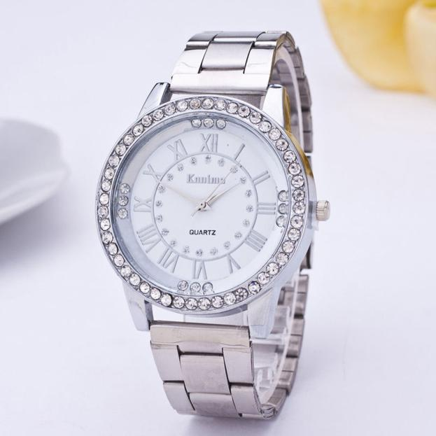 Top Brand Rose Gold Watch Luxury Women Dress Rhinestone Quartz Watch Casual Women Stainless Steel Wristwatches Female Clock