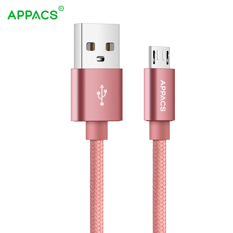 5V2.1A Micro USB Cable, APPACS Fast Charging Mobile Phone USB Charger Cable 1M 2M 3M Data Sync Cable for Samsung HTC LG Android
