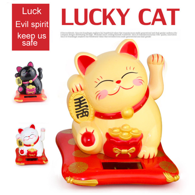 Creative Cute Shaking Hands Lucky Cat Fortune Crafts Figurines Miniatures Wealth Waving Cat Oranment Birthday Gift