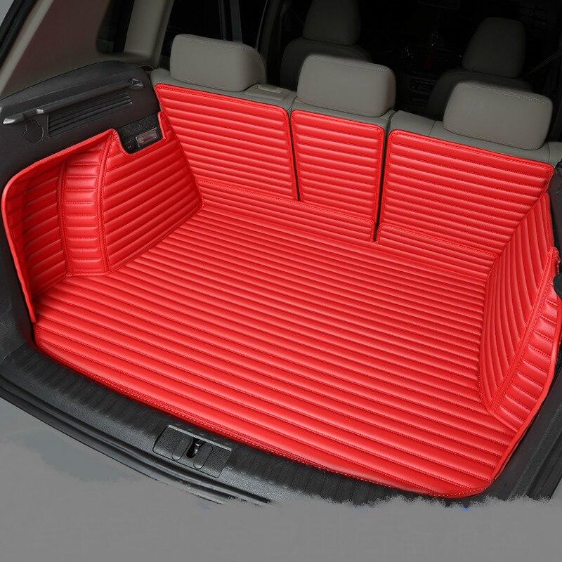 Полностью Покрытые водонепроницаемые ковры для ботинок прочные специальные автомобильные коврики для багажника Lincoln MKX MKZ MKS MKC MKT навигатор Континентальный - Название цвета: Красный