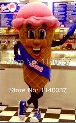 cute icecream mascot costume ice cream mascot custom fancy dress cosplay kits Cartoon Character carnival costume fancy Costume