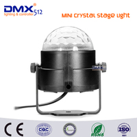New Year Gift Sound Activated 3W Crystal Magic Rotating Ball Effect RGB LED Stage Light For