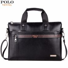 8c09bdec4f28d VIKUNJA POLO Top Verkauf Mode Einfachen Dot Berühmte Marke Business männer  Aktentasche Tasche Leder Laptoptasche Casual