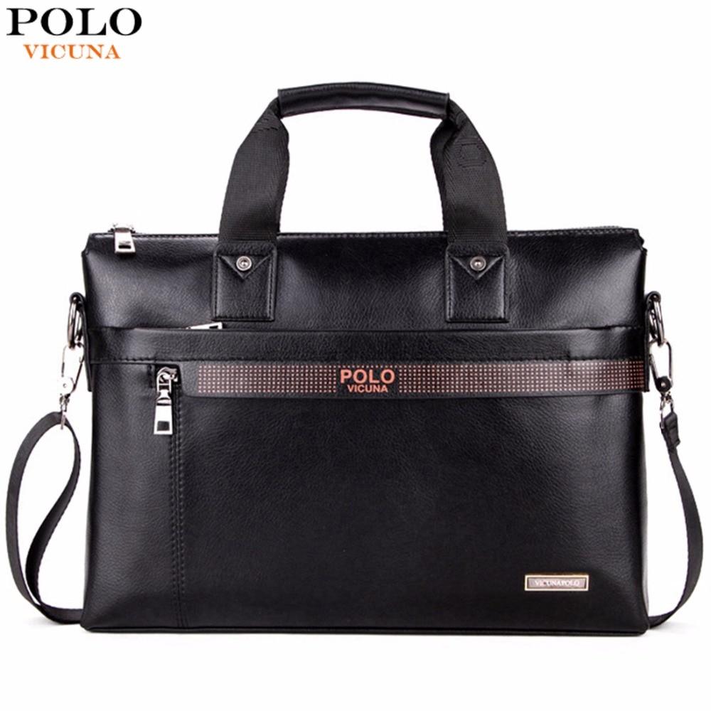 VIGOGNA POLO Top di Modo di Vendita Semplice Puntino Famous Brand Affari Borsa della Cartella degli uomini Laptop Bag In Pelle Casual Shoulder Bag Man borse