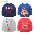 Jiuhehall 2017 Spring/Autumn Kids Cartoon Sweater Christmas Wind Children's Knitted Sweater Cute Pullover For Babys 3-7y CMB223