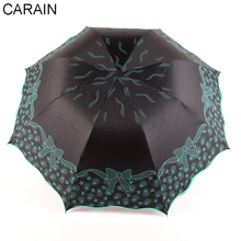 Carain Flower Umbrellas Rain Women 2018 New Design Windproof Durable Quality Business Folding Umbrella UV-proof
