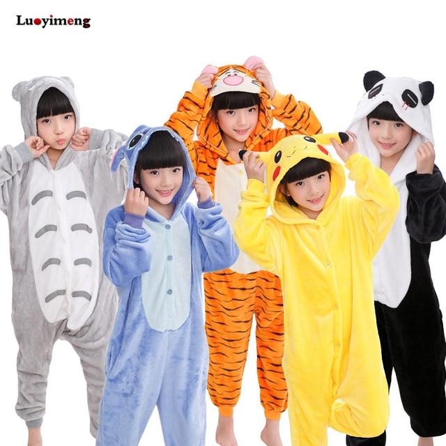 dc765792a Kids Unicorn Pajamas Onesie Panda Children Animal Sleepwear Kigurumi ...