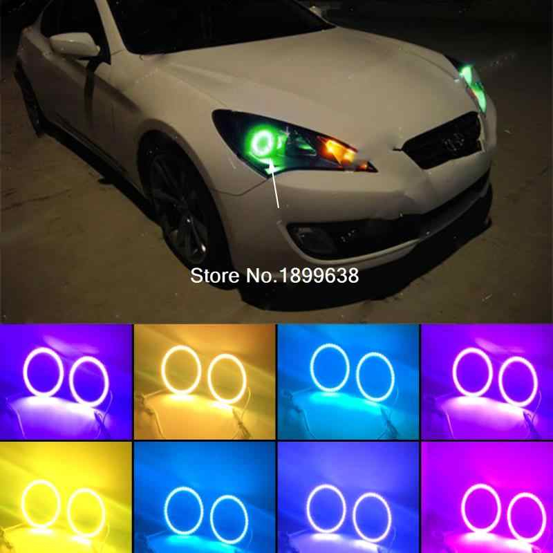 Super Bright 7 Color Rgb Led Angel Eyes Kit With A Remote