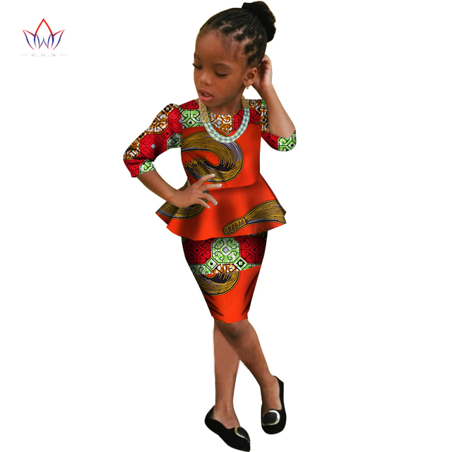 91fada9f977eb US $39.69 |2019 African Women Clothing Dashiki Traditional Summer suit  Matching Africa Print girl chinese set Children cotton BRW WYT166-in  Women's ...