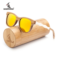 BOBO BIRD Nature Wooden Polarized Sunglasses Women And Mens Beach Sun Glasses With Fashion Creative Wavy