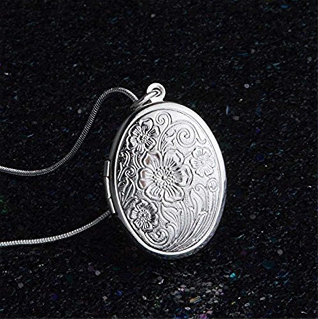 Zerotime #P5 2019 Fashion Jewelry 925 Sterling Silver Rose Round Locket Necklace Box Snake Chain Free Shipping