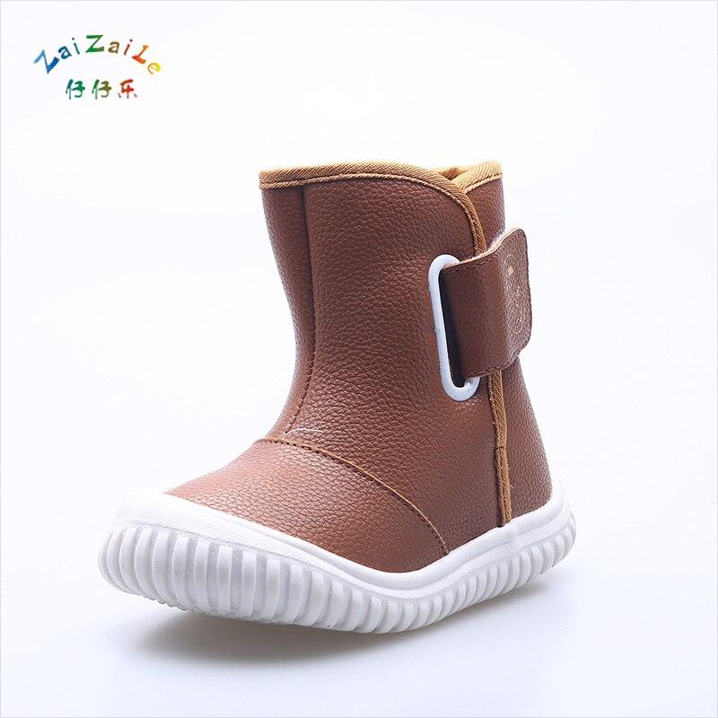 Kids Boots 2017 Autumn Winter Keep warm Boys Soft Bottom Girls Boot Shoes Children Casual Retro