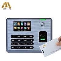 Sistema Linux 3.0 polegada TX628 Tela Colorida TFT tempo da impressão digital comparecimento do tempo de reconhecimento de impressão digital com leitor de cartão de ID|fingerprint reader|fingerprint card reader|fingerprint reader linux -