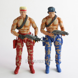 Image 2 - NECA CONTRA Bill & Lance PVC Action Figure Collectible Model Toy 2pcs/set