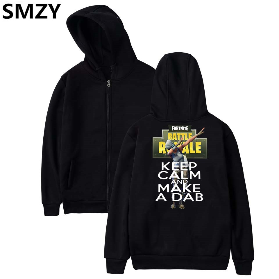 SMZY Fortnite Zipper Hoodies Men Sweatshirts Casual Fashion TGA Popular FPS Game Hoodies Men Zipper Funny Cartoon Logo Clohtes