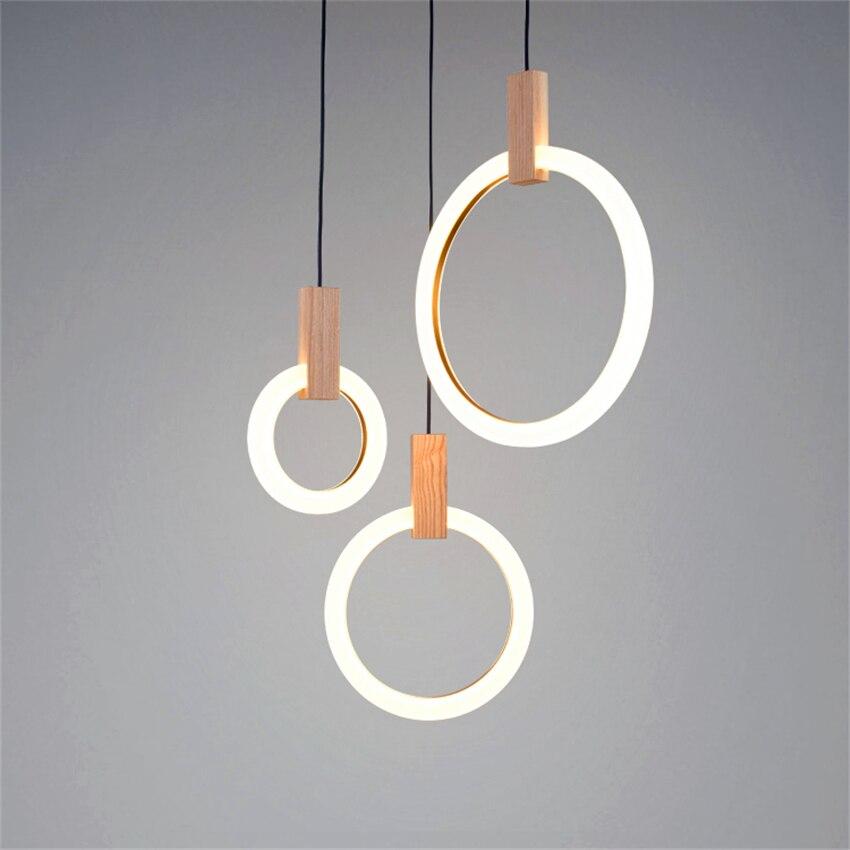 Modern LED Simple Nordic Living Room Pendant Lamps Bedroom Decor Fixtures Stair Lighting Loft Illumination Long Hanging Lamp