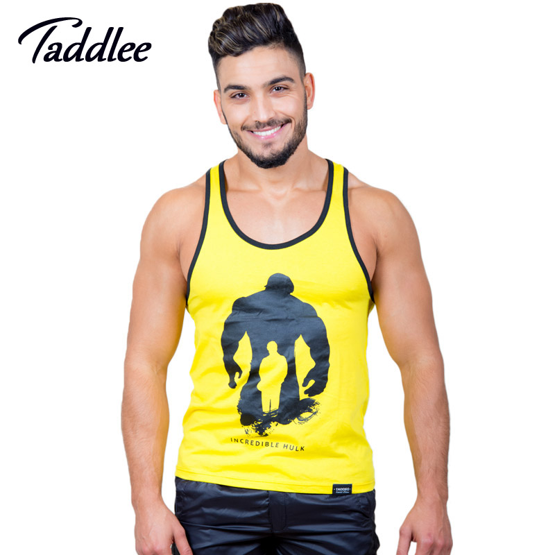 2-pack Taddlee Marca Top Homens Tanque Singlets Musculares Moda 2017 Top  Tees Camisas Sem Mangas Longarinas Gasp Fitness Workout Casual 5aaf74db4be