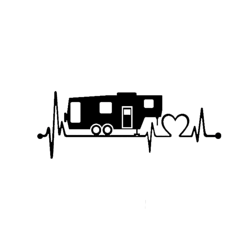Motorcycle Accessories & Parts Sweet-Tempered Bus Wheel Camper Travel Trailer Hiker Heartbeat Decal Sticker Tent Hiking Vinyl Hobby Car Bumper Sticker Seats & Benches