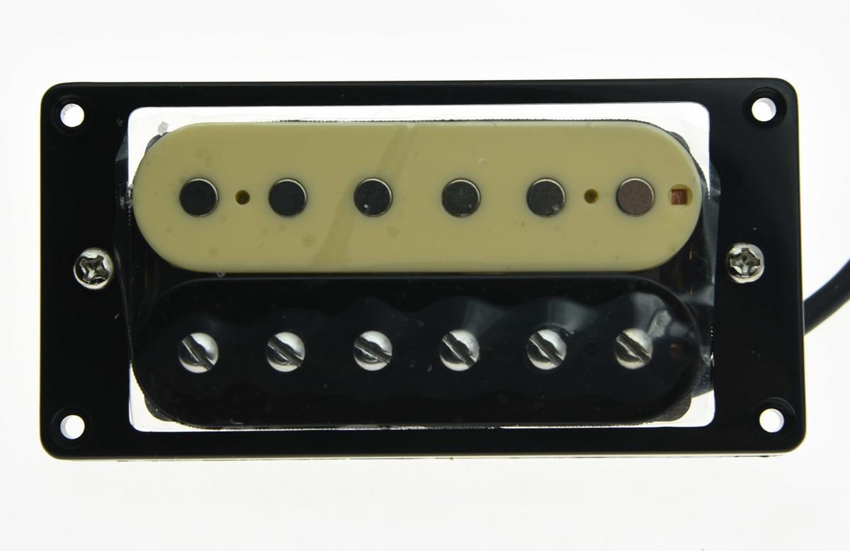 KAISH Alnico V Guitar Humbucker Bridge Pickup 50's Vintage Sound Pickups Zebra Style black single coil pickup for tele style electric guitar bridge pickups