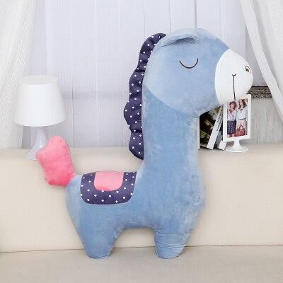 ᐊstuffed Animal 60cm Plush Sky Blue Horse Toy Horse Doll Throw