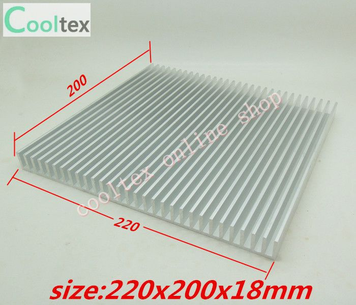 (5pcs/lot)  220x200x18mm  Aluminum radiator HeatSink for electronic Chip CPU GPU VGA RAM LED IC Heat Sink  COOLER cooling 10pcs lot ultra small gvoove pure copper pure for ram memory ic chip heat sink 7 7 4mm electronic radiator 3m468mp thermal