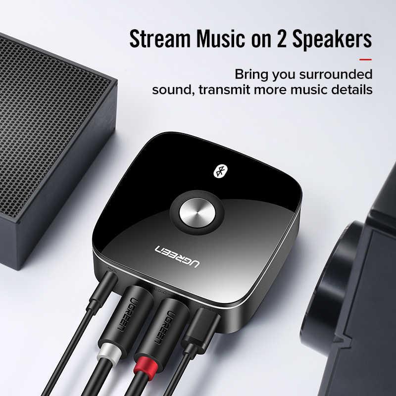 Ugreen Bluetooth RCA приемник 5,0 aptX LL 3,5 мм Jack Aux Беспроводной Музыка адаптер для ТВ автомобиля RCA Bluetooth 5,0 3,5 аудио приемник