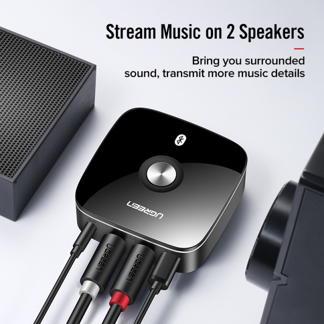 5.0 Bluetooth RCA Receiver with 3.5mm Jack