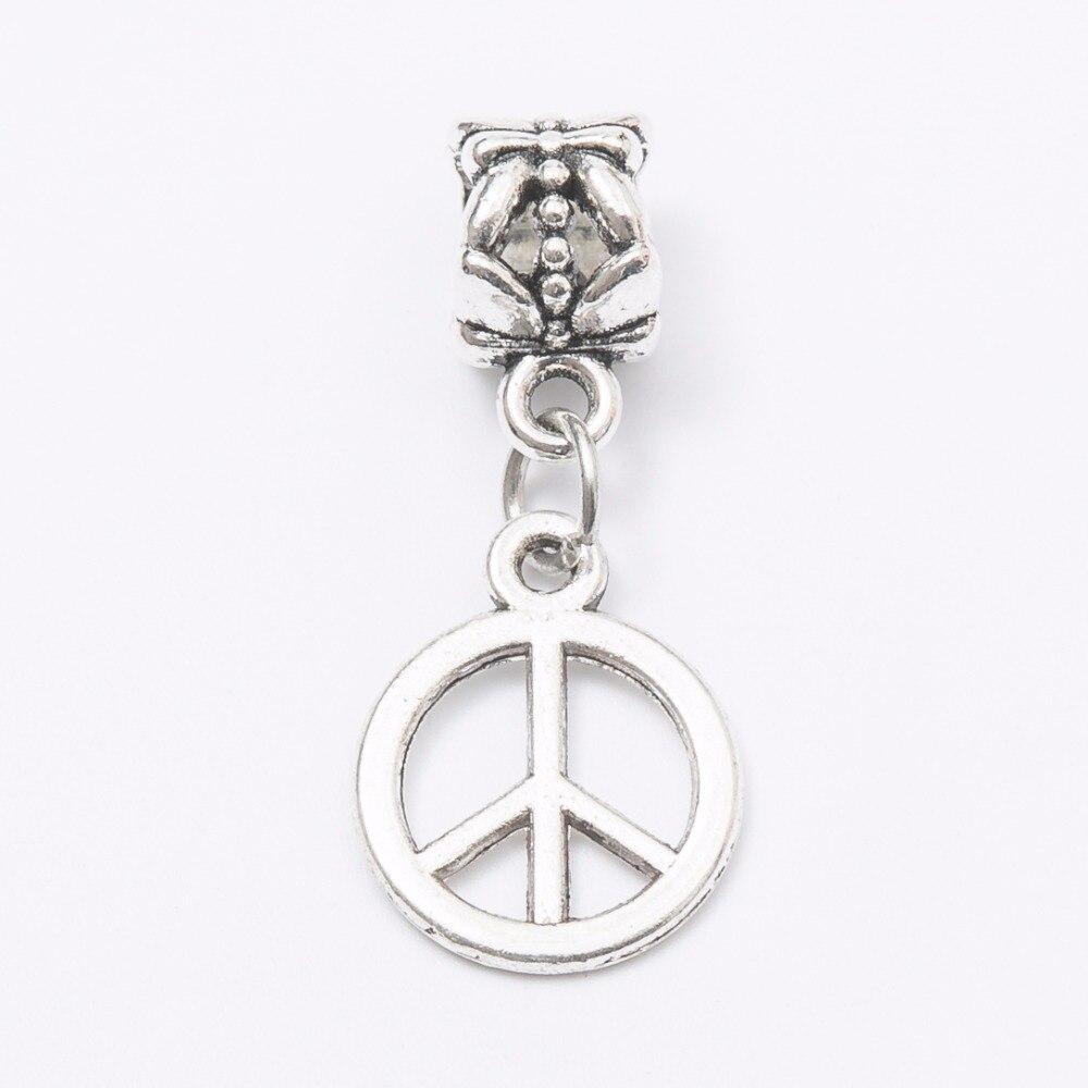 Jewelry & Accessories Spirited 30pcs Peace Symbol Silver Bead Fit Pandora Charm Bracelet Diy Dangle Charm For Pendants Jewelry Making Js1089