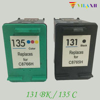 2 Pcs Compatible Ink Cartridges For HP 131 135 For HP131 135 Photosmart 2710 2610 325