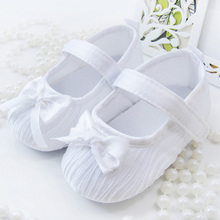 Cute Toddler Baby Kids Girls Bowknot Satin Crib Shoes Prince