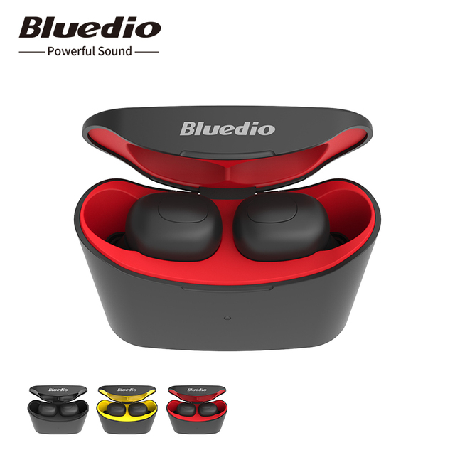Bluedio T-elf TWS Bluetooth Earphone 5.0 original with charging boxin ear sport wireless headphone for music and cell phones