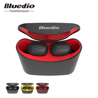Bluedio T elf TWS Bluetooth Earphone 5.0 original with charging boxin ear sport wireless earphone for music and cell phones
