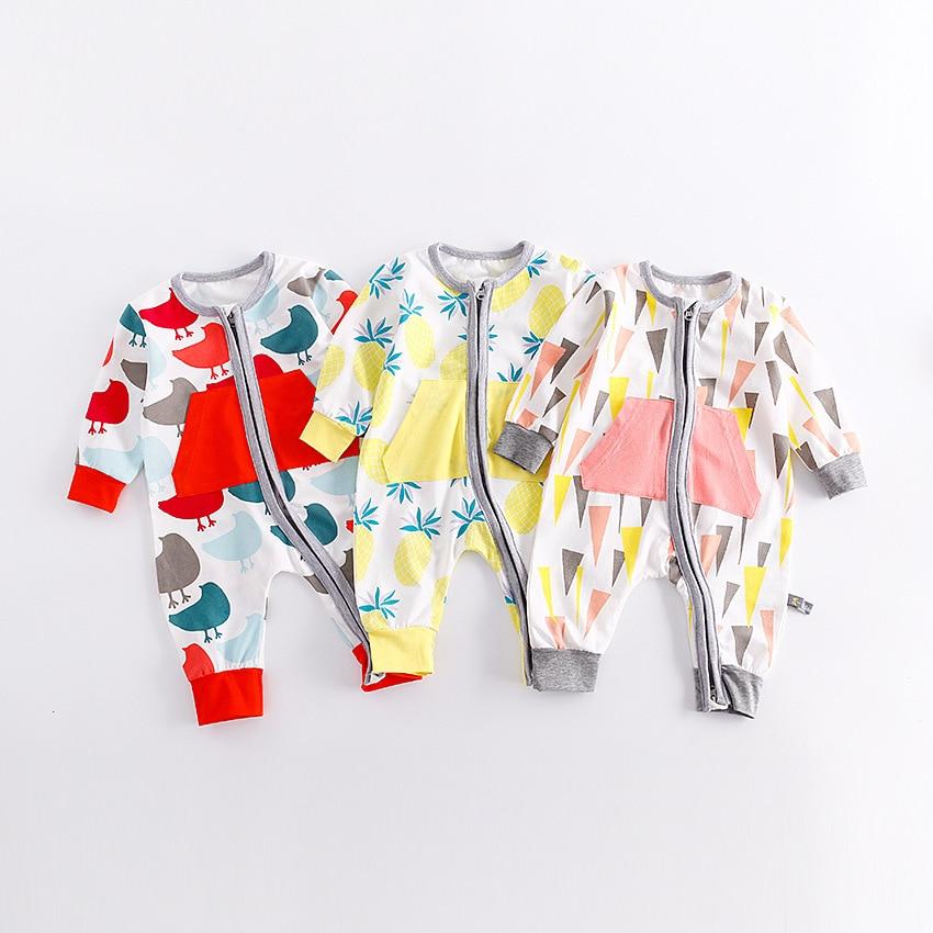 Autumn Winter Baby Newborn Baby Girl Clothing 2017 Romper Clothing Infant Overalls Children Sleepwear Suit Onesie Pajamas