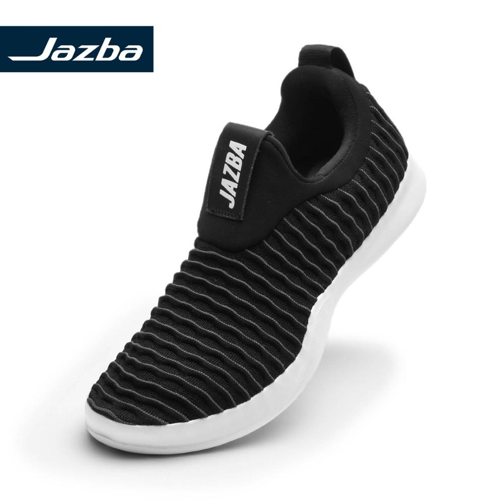 Jazba LEHAR Dual Tone Knitted Slip-On Shoe Men Running Shoes Athleisure Light Soft Sneakers 2019 Casual Breathable Walking
