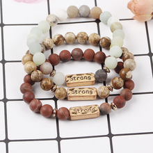 2019 womens fashion colorful ethnic stone strand bracelets charm beaded bangles for women men gifts