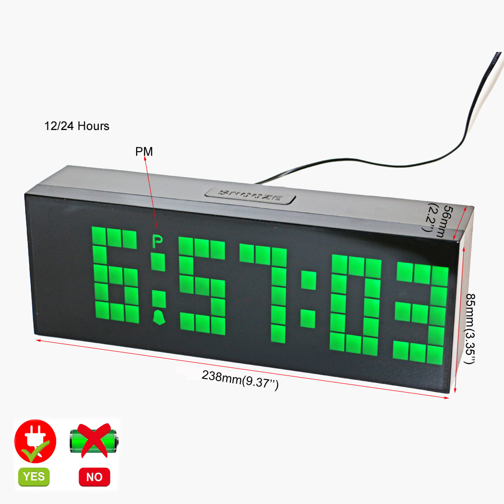 Desk Wall Led Digital Alarm Clock Countdown Timer Clock with - Home Decor - Photo 2