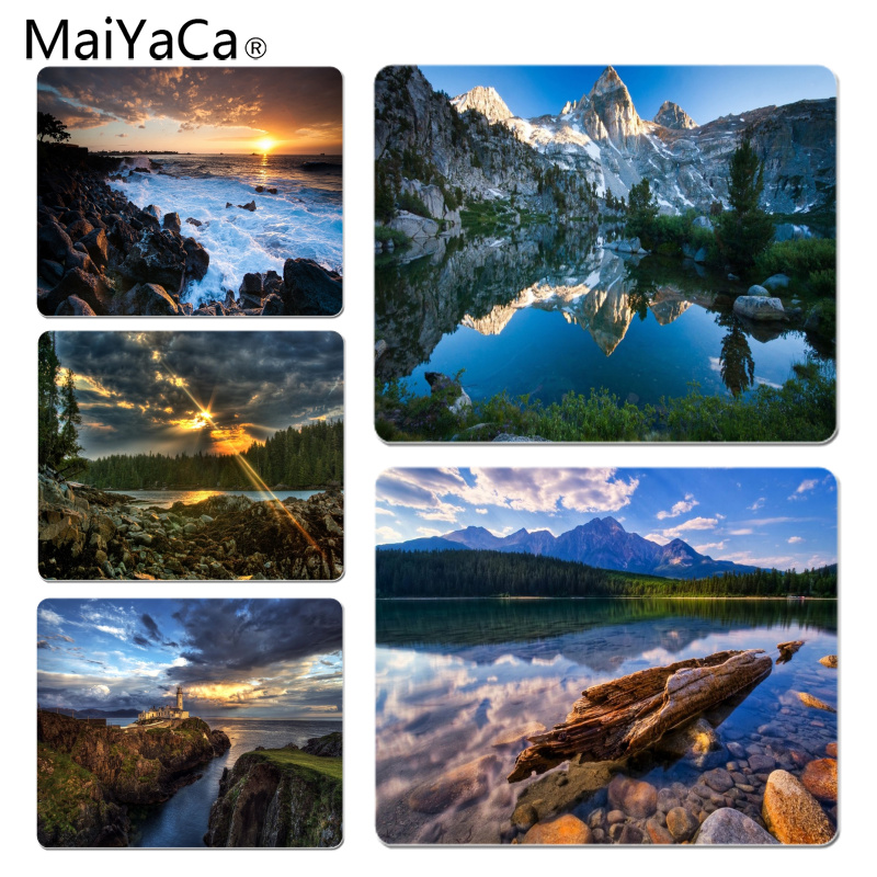 MaiYaCa Cool New Beautiful Nature Scene mouse pad gamer play mats Size for 18x22cm 25x29cm Rubber Mousemats