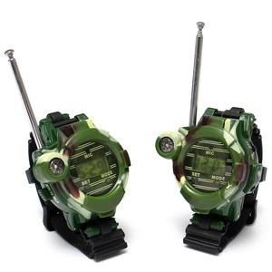2 pcs 1 Pair Toy Walkie Talkies Watches Walkie Talkie 7 in 1 Children Watch Radio Outdoor Interphone Toy for Children Gifts