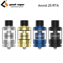 Original GeekVape Ammit Single Coil 25 RTA Atomizer 2ml/5ml Upgrade Ammit V2 25mm RTA Tank for Electronic Cigarette 510 Mods(China)