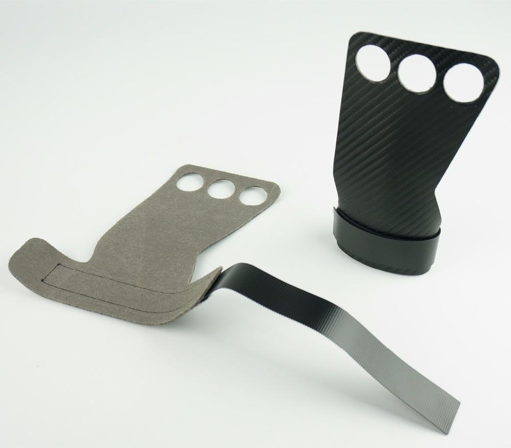 1 par de guantes de levantamiento de pesas de fibra de carbono para gimnasio