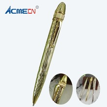 где купить 44g Metal Heavy Ballpoint Pen Unique Design Thread finish High Quality Brand Pens For Man and Lady Gifts Writing Instrument1690B дешево