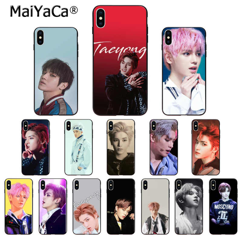 MaiYaCa NCT 127 Taeyong TPU Soft Silicone Phone Case for iPhone 6S 6plus 7 7plus 8 8Plus X Xs MAX 5 5S XR