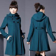 Во время Весна и осень зимнее платье пальто длинный большой ярдов женские тканевые пальто cultivate one's morality