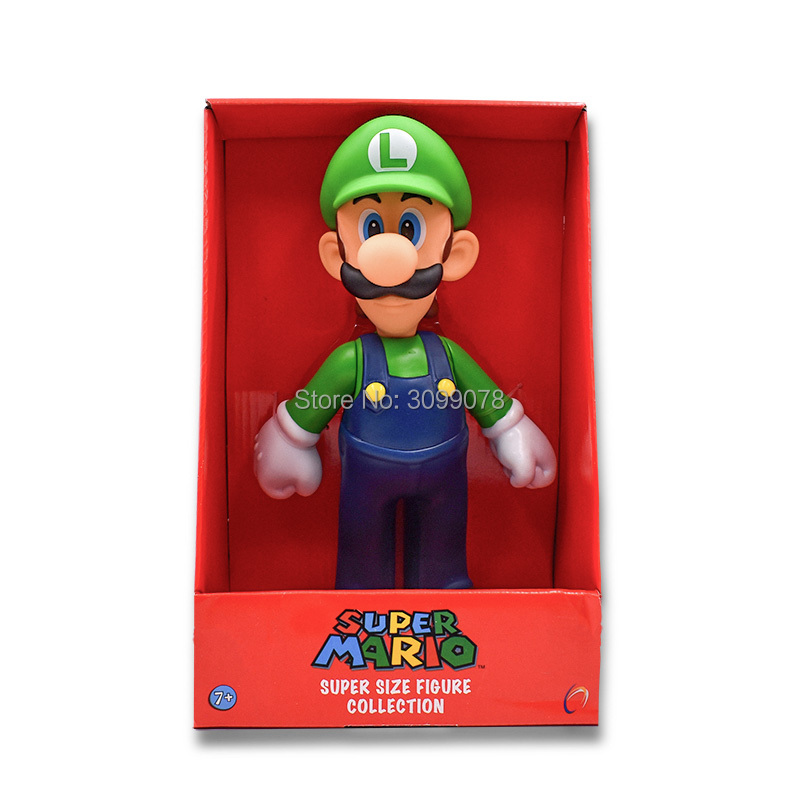 2 Styles Free Shipping Super Mario Bros Mario Luigi PVC Action Figure Collection Toy Doll 9 quot 23cm New in Box Enema in Action amp Toy Figures from Toys amp Hobbies