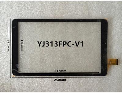 Nueva pantalla original de 10 pulgadas táctil capacitiva de la tableta YJ313FPC-V1 envío gratis