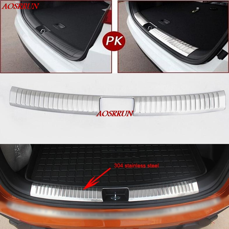 car-styling Stainless Steel Inner Rear Bumper Protector Sill Car Accessories Trunk cover For Hyundai Creta ix25 2015 2016 2017 car door armrest window switch stickers decoration sequins control panel cover lhd for hyundai creta ix25 2015 2016 accessories