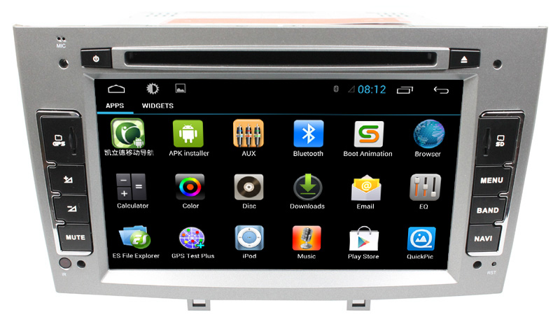 buy for capacitive android 4 4 car autoradio for peugeot 408 308 308sw with. Black Bedroom Furniture Sets. Home Design Ideas