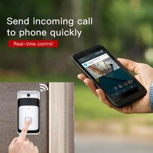 Image 3 - Беспроводной ip беспроводной видеодомофон для видеодомофона, беспроводной дверной звонок, камера ночного видения, PIR сигнализация, камера безопасности Android IOS